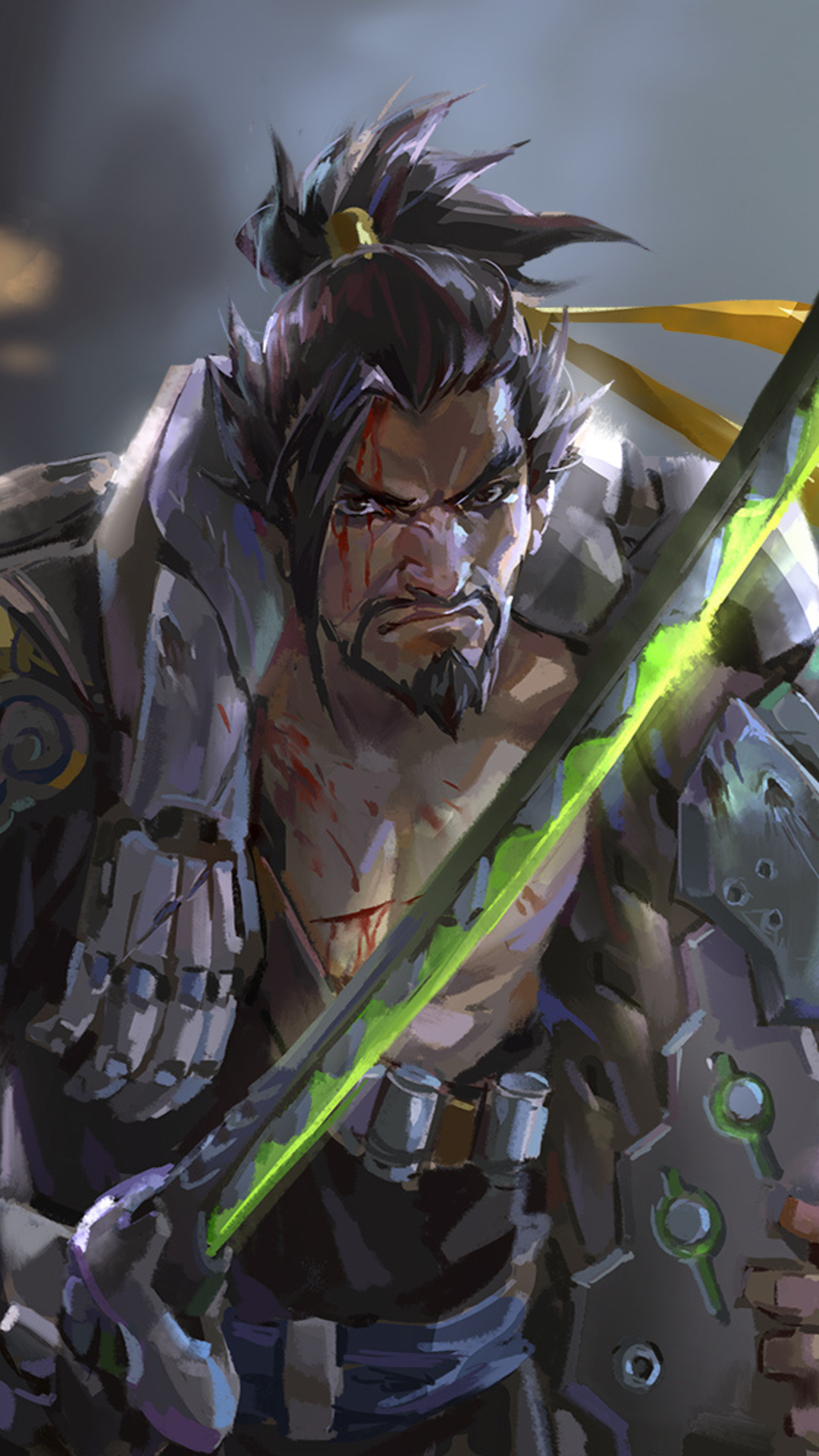 1080x1920 genji hanzo overwatch artwork iphone 7,6s,6 plus, pixel xl