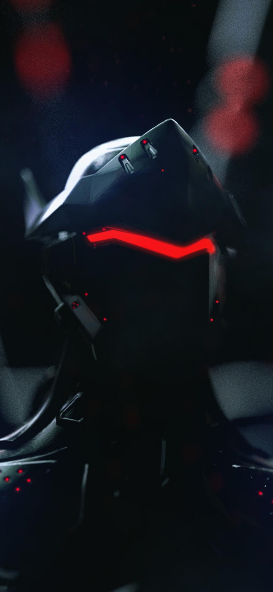 1125x2436 Genji Overwatch Neon Artwork Iphone Xs Iphone 10