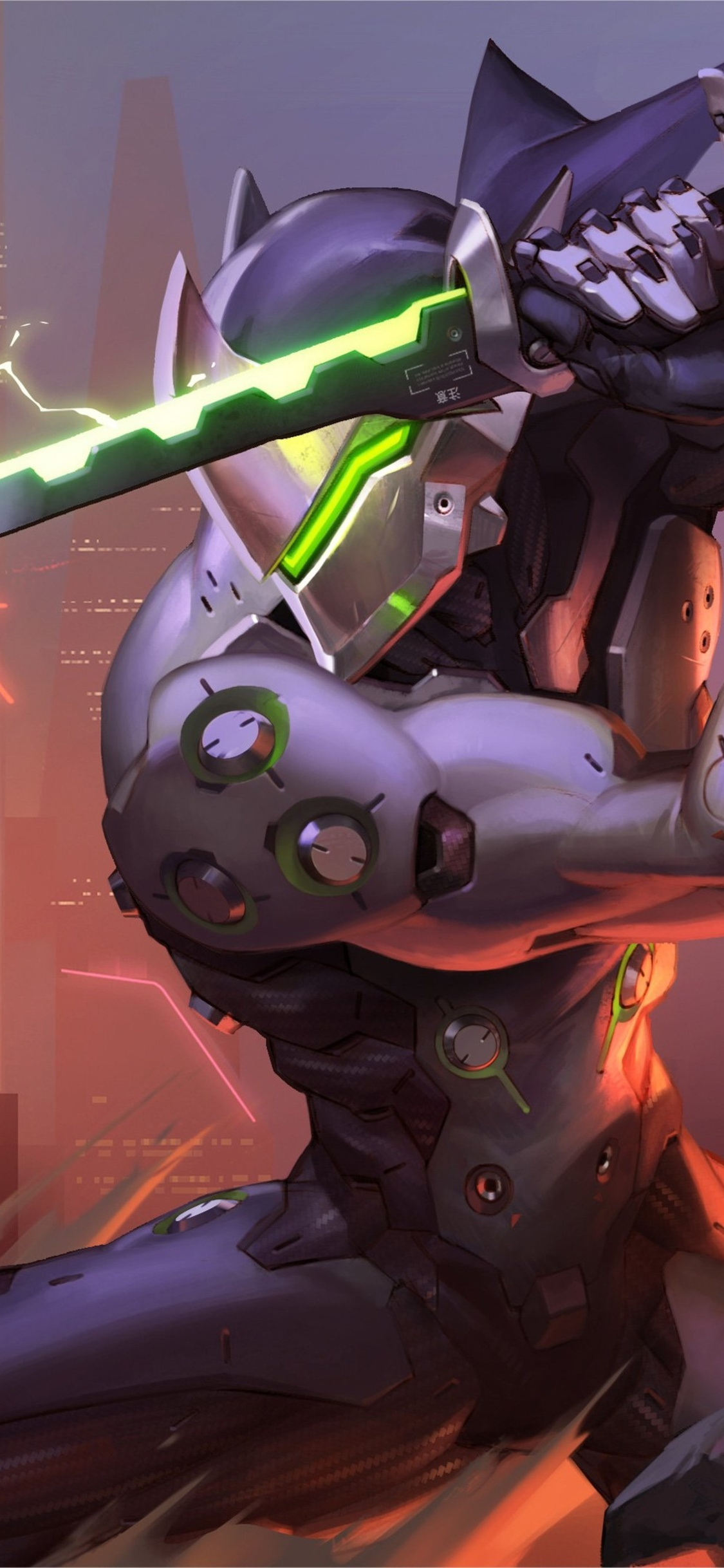1125x2436 Genji Overwatch Video Game 4k Iphone Xs Iphone 10