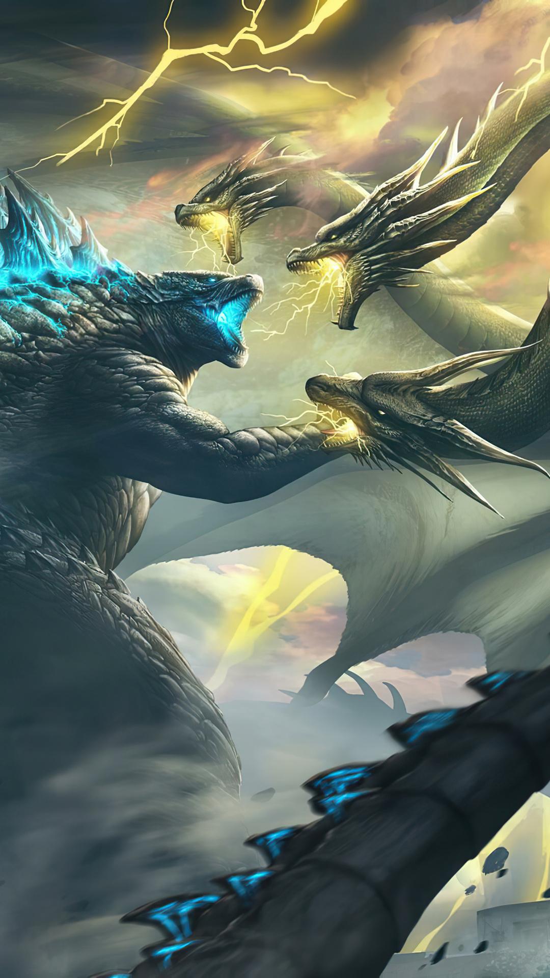 1080x1920 Ghidorah Godzilla King Of The Monsters 4k Iphone ...