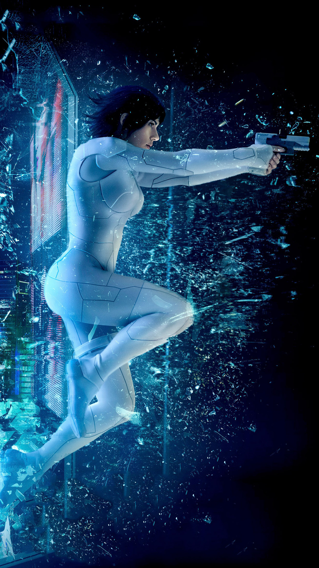 1080x1920 Ghost In The Shell 2017 Movie Iphone 7 6s 6 Plus