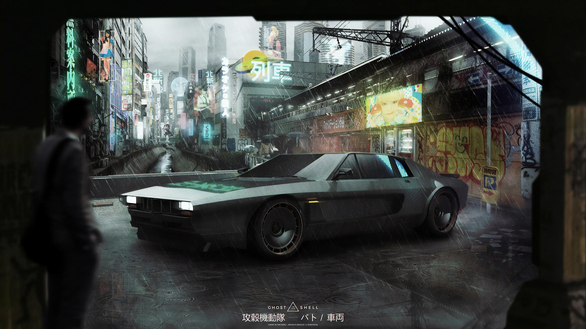 1920x1080 Ghost In The Shell Batous Car Laptop Full Hd 1080p Hd 4k
