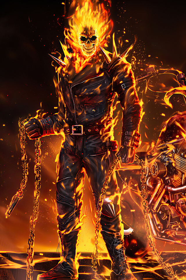 640x960 Ghost Rider 2020 Art iPhone 4, iPhone 4S HD 4k ...