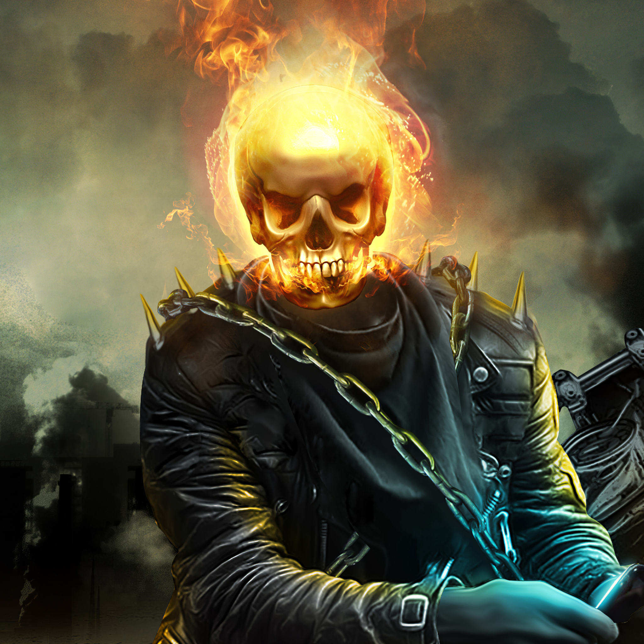2048x2048 Ghost Rider 4k 2020 Artwork Ipad Air HD 4k