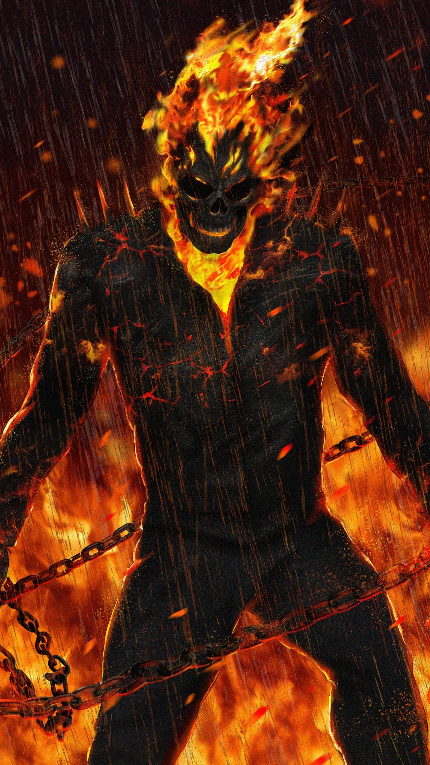 1440x2560 ghost rider artwork hd samsung galaxy s6,s7 ,google pixel