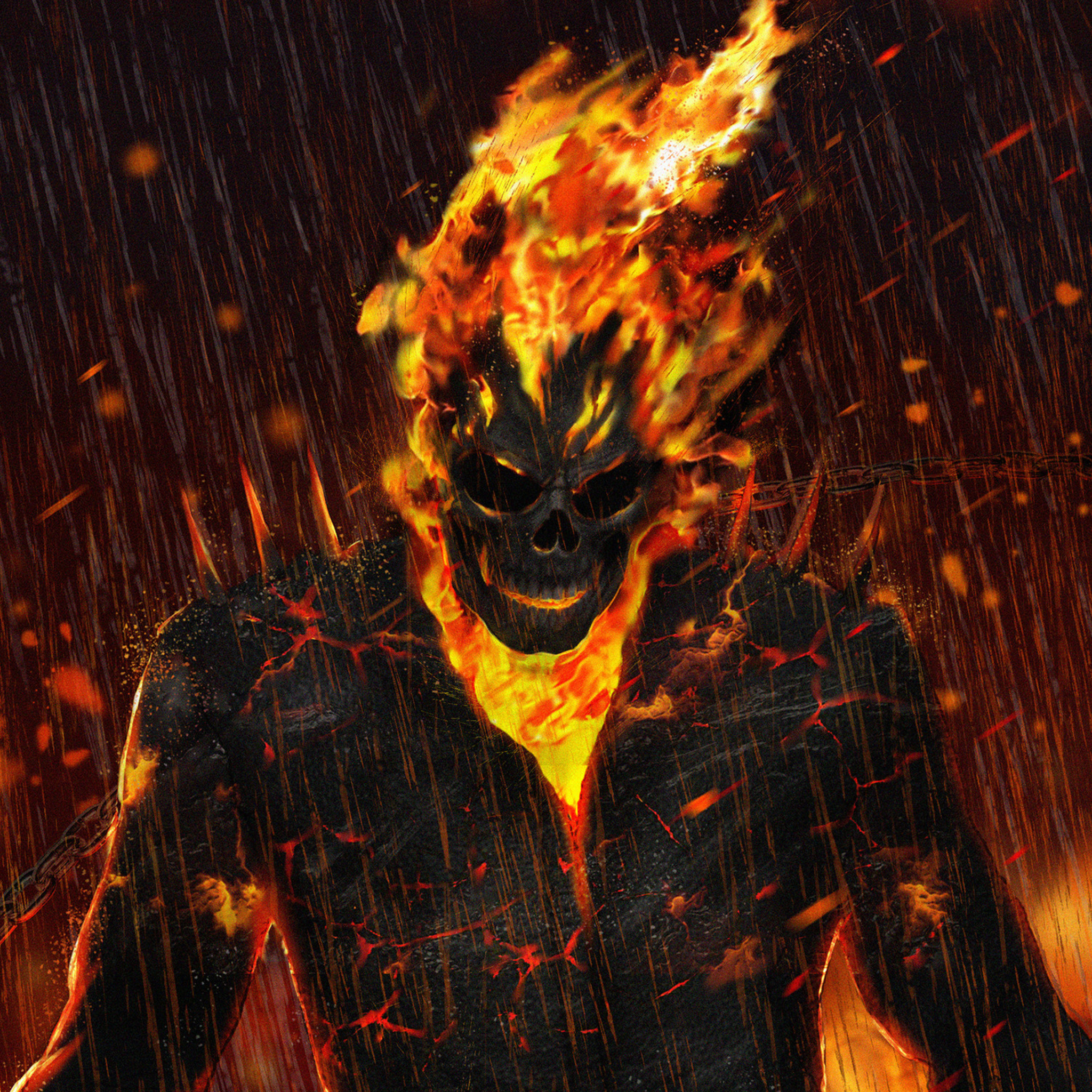 2048x2048 Ghost Rider Artwork HD Ipad Air HD 4k Wallpapers