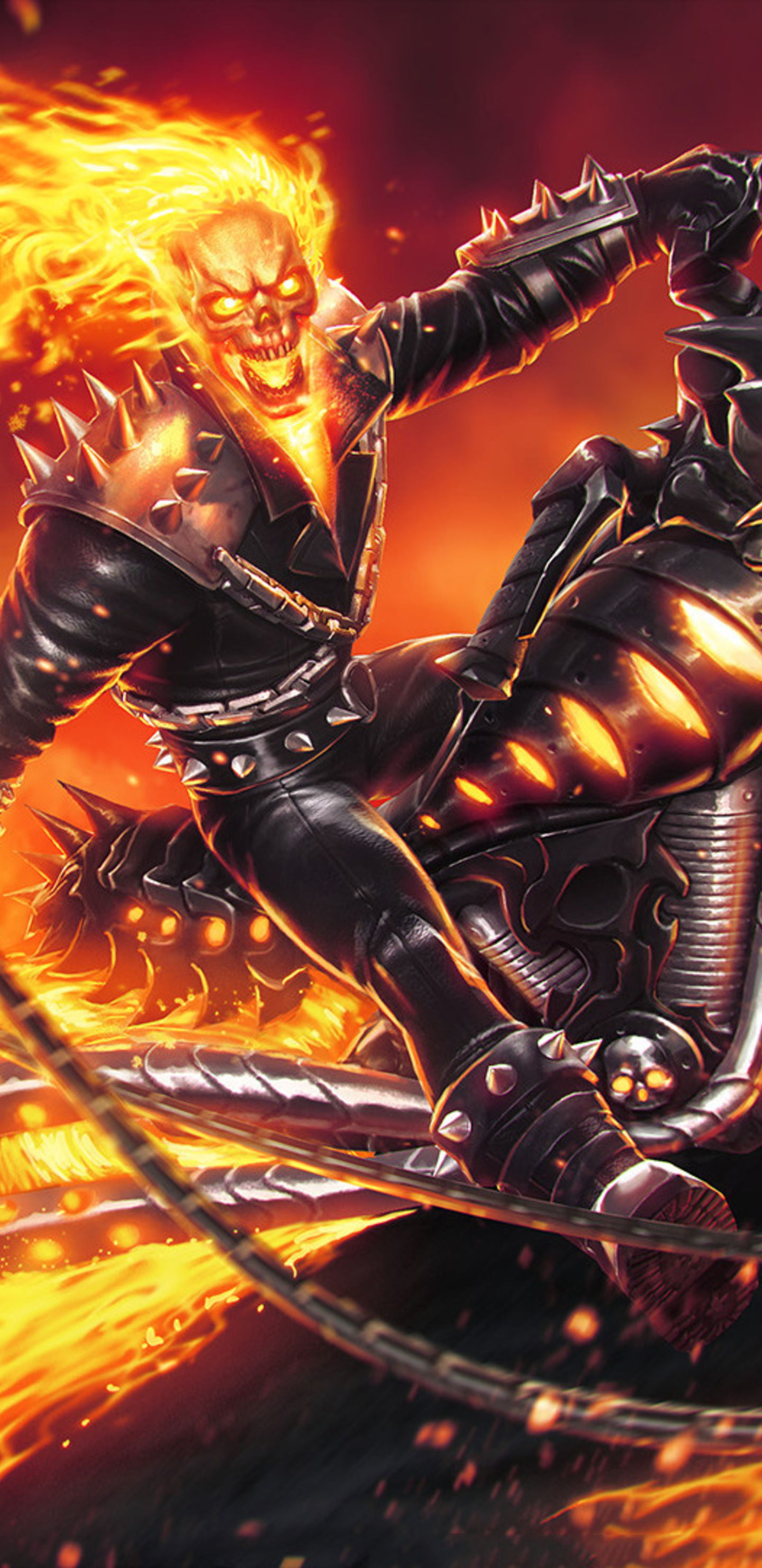 1440x2960 ghost rider marvel contest of champions samsung galaxy