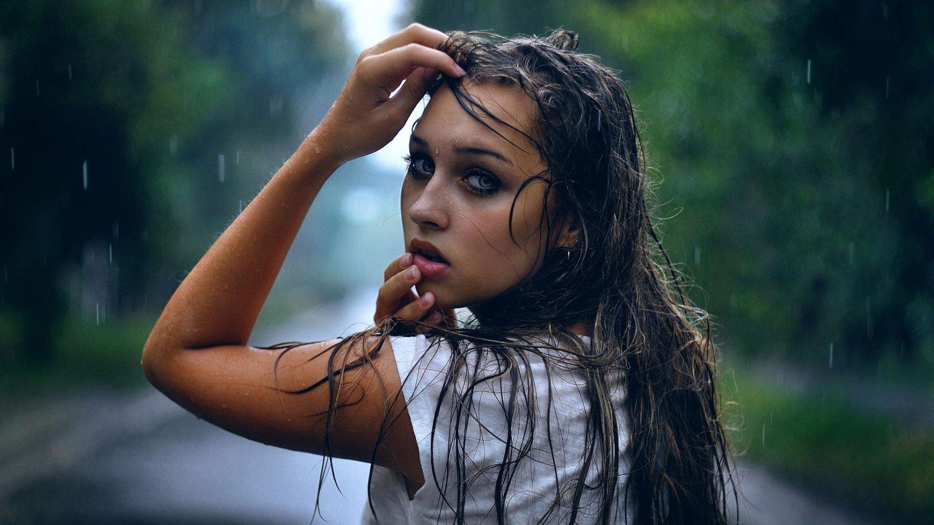 1920X1080 Girl In Rain Laptop Full Hd 1080P Hd 4K -7559