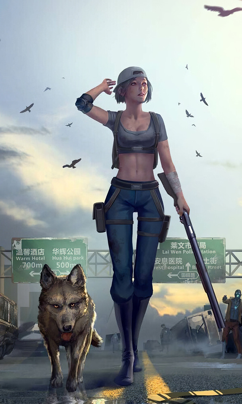 girl-with-gun-walking-downtown-with-dog-zm.jpg