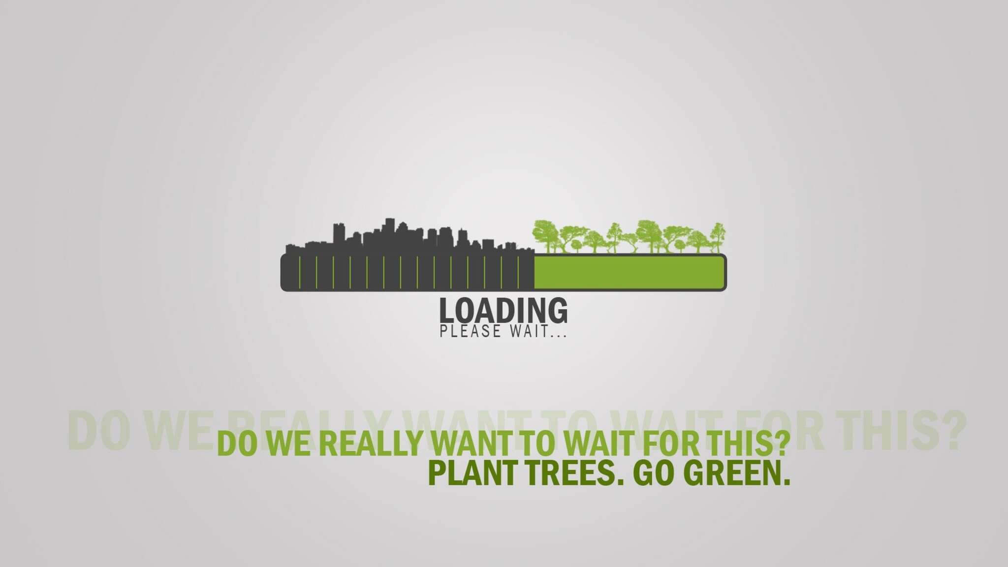 Go Green Inspirational Typography Image