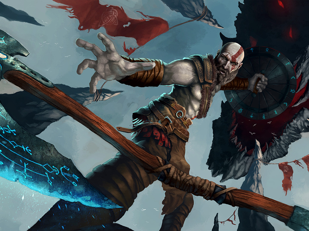 1024x768 God Of War 4 Artwork 1024x768 Resolution Hd 4k Wallpapers