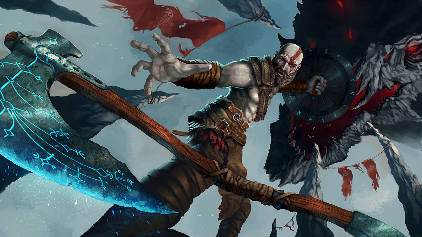 1366x768 God Of War 4 Artwork 1366x768 Resolution Hd 4k Wallpapers