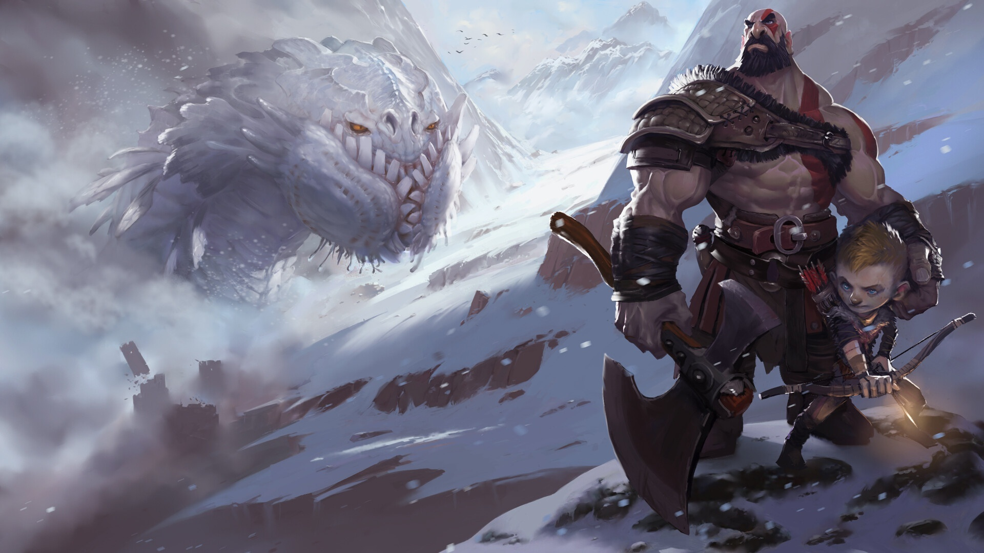 1920x1080 God Of War 4 Fanart Laptop Full Hd 1080p Hd 4k