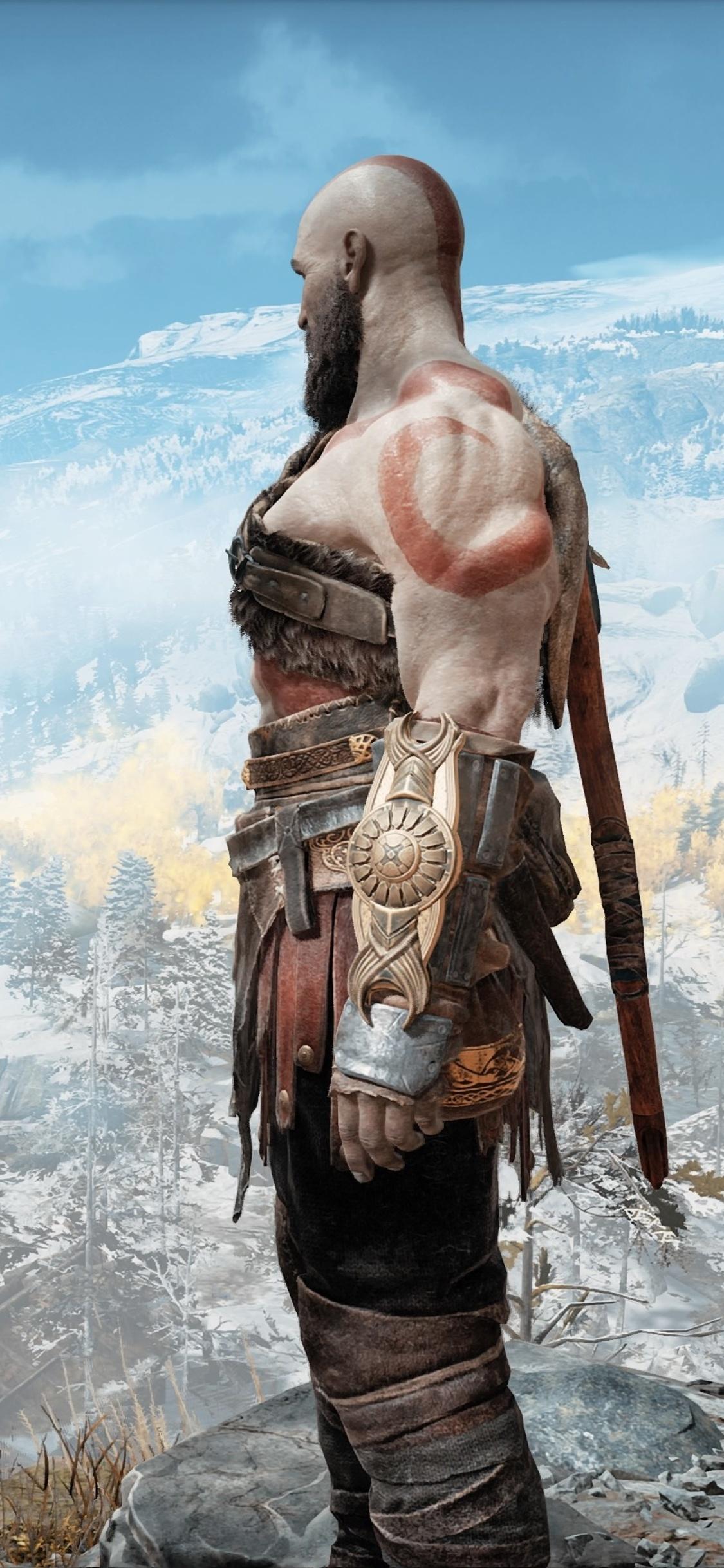 1125x2436 God Of War 4 Kratos And Atreus 4k Iphone Xs Iphone 10