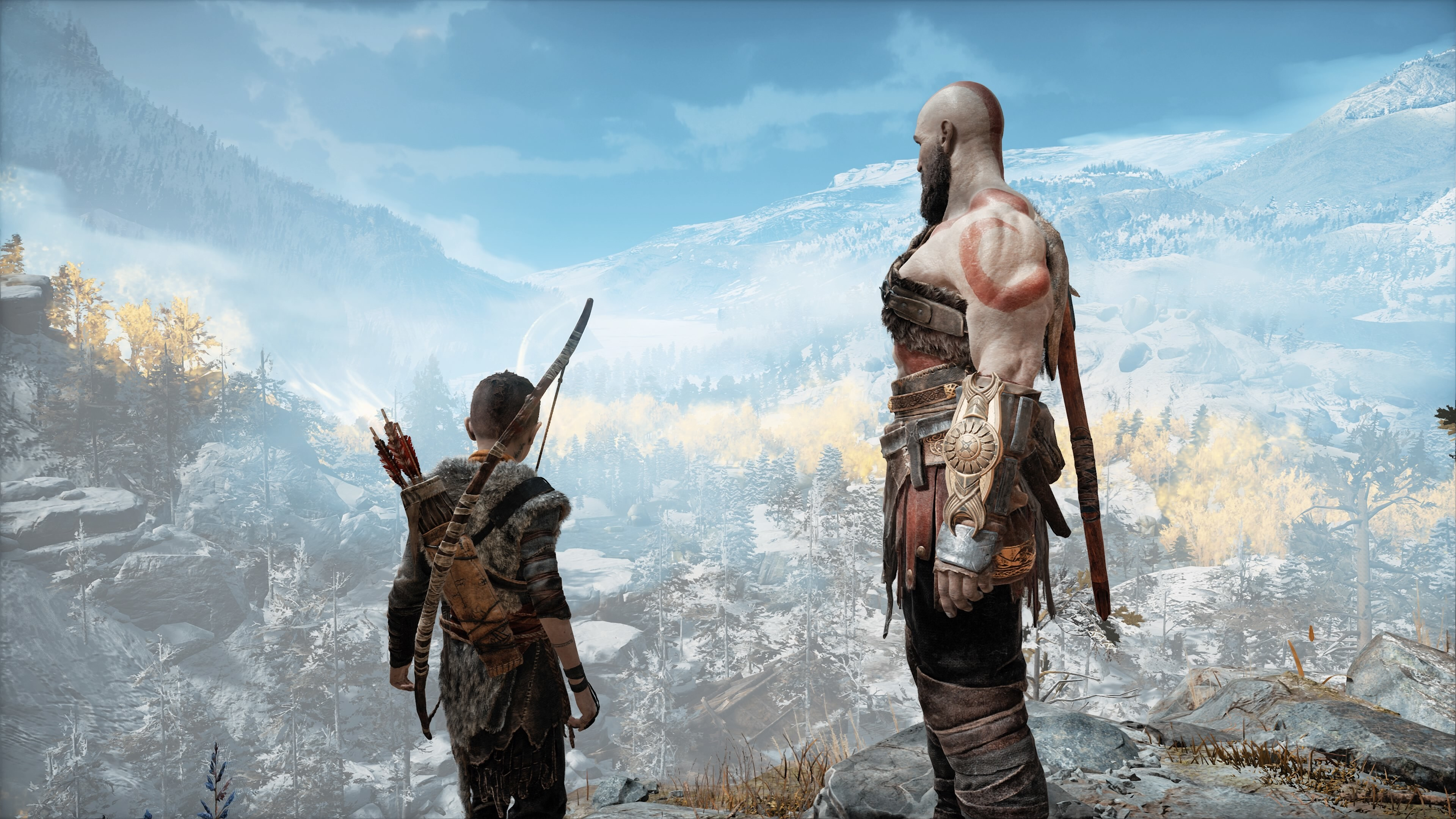 3840x2160 God Of War 4 Kratos And Atreus 4k 4k Hd 4k