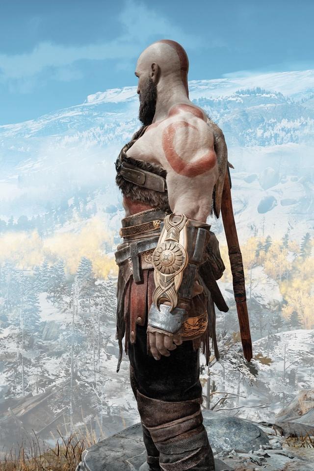 640x960 God Of War 4 Kratos And Atreus 4k Iphone 4 Iphone