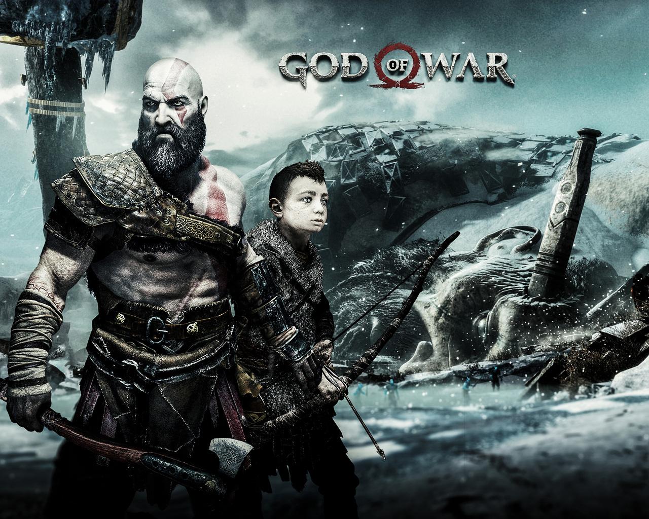 1280x1024 God Of War 4 Kratos And Atreus 1280x1024 Resolution Hd