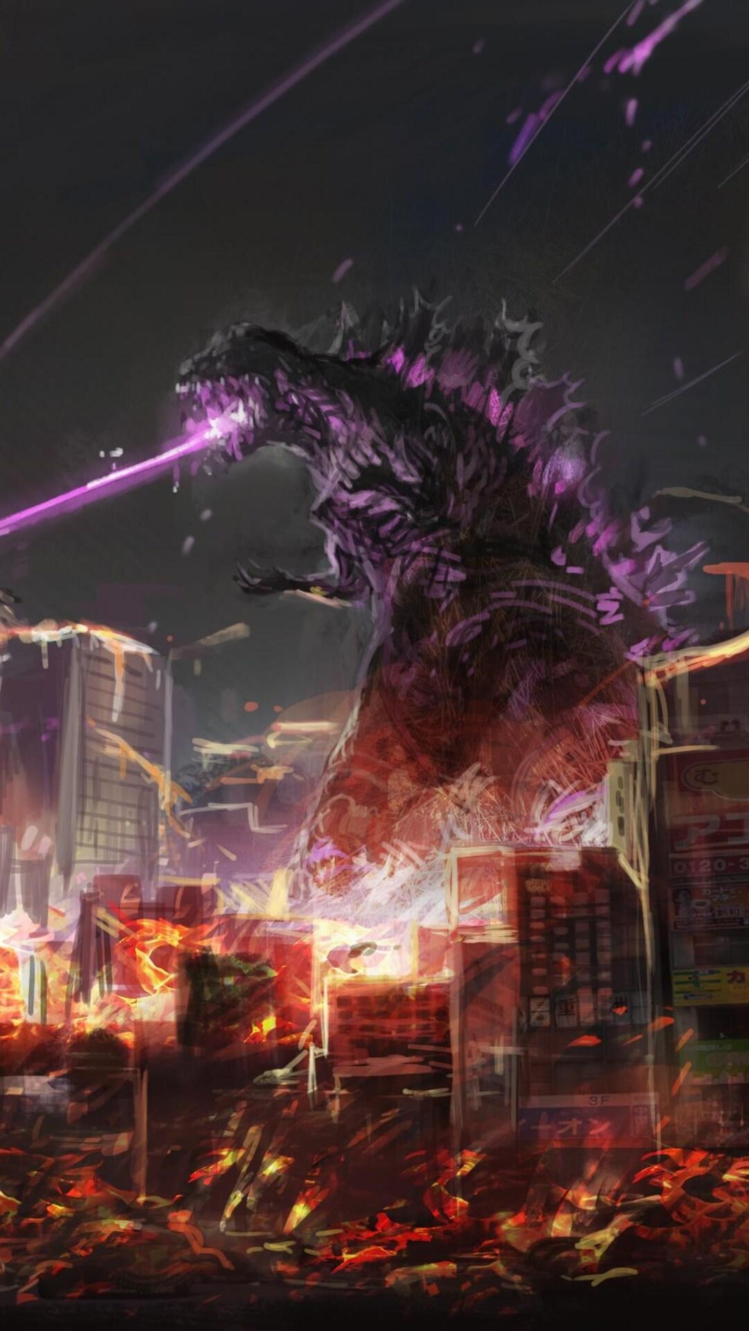 1080x1920 Godzilla Fan Art Iphone 7,6s,6 Plus, Pixel xl ...