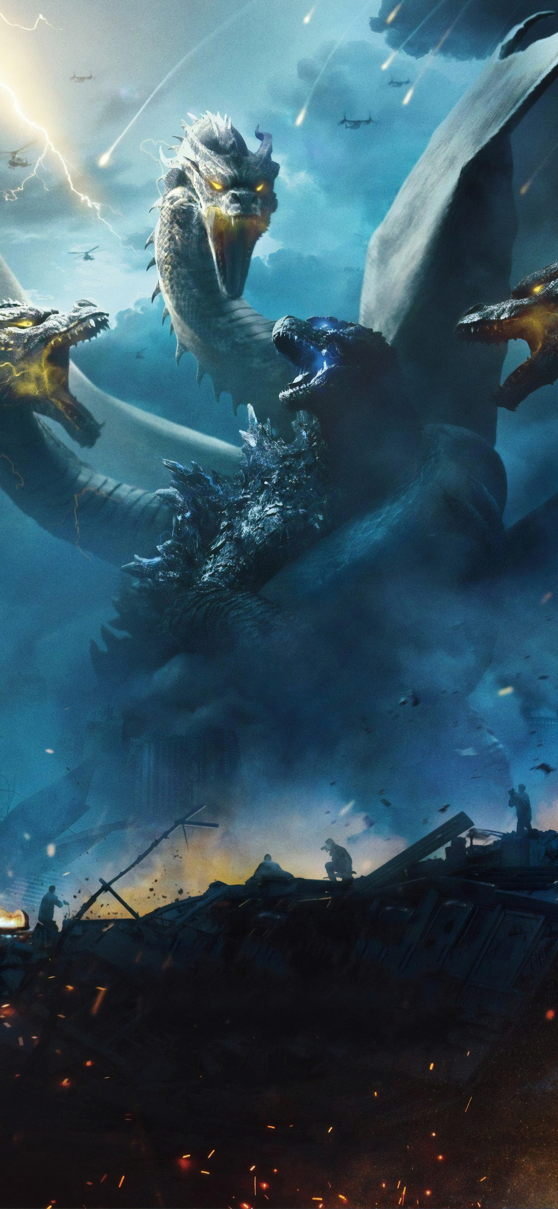 1125x2436 Godzilla King Of The Monsters 4k 2019 Iphone Xs