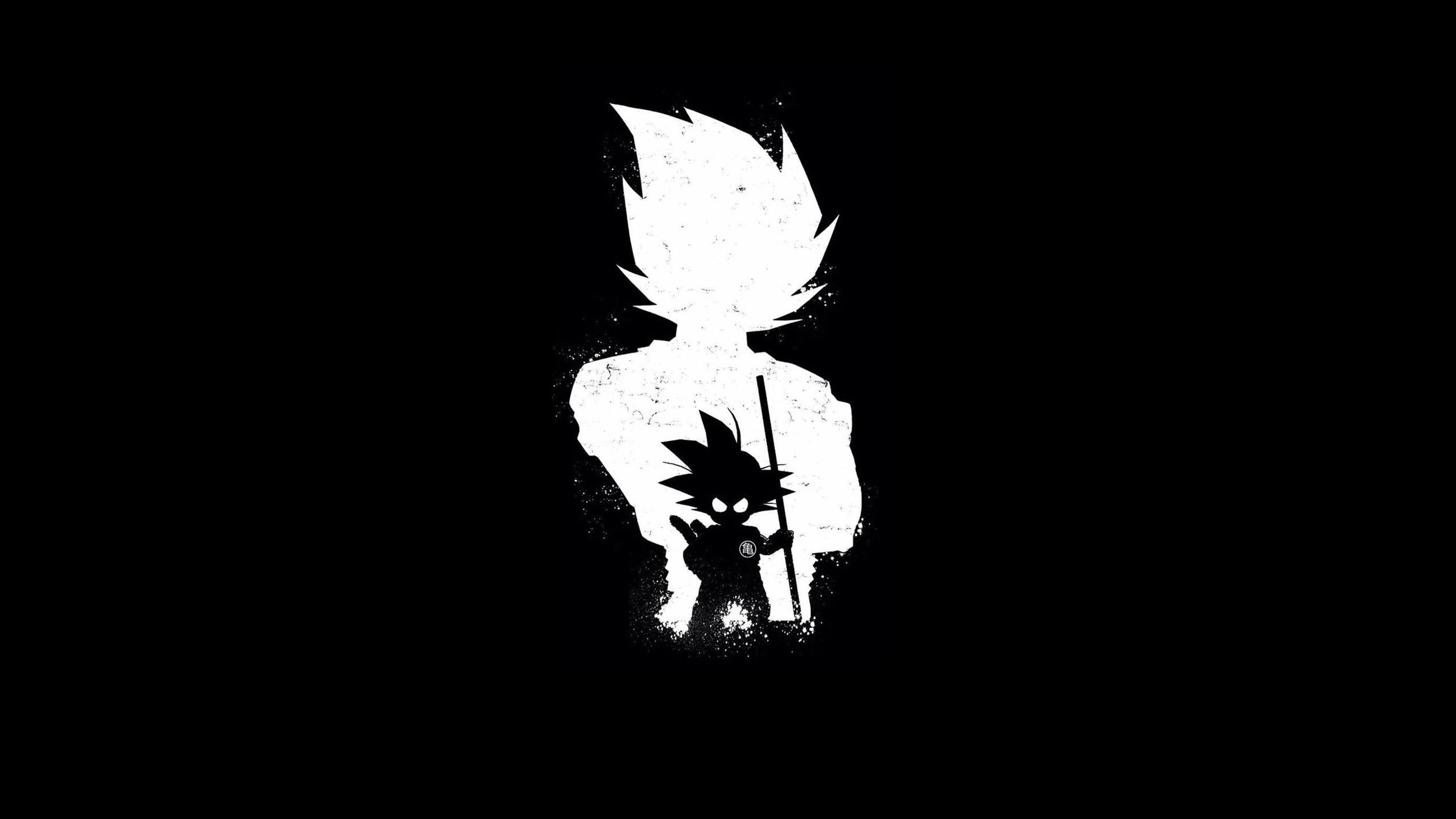 2560x1440 Goku Anime Dark Black 4k 1440p Resolution Hd 4k