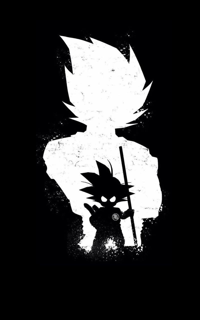 goku anime dark black 4k ri