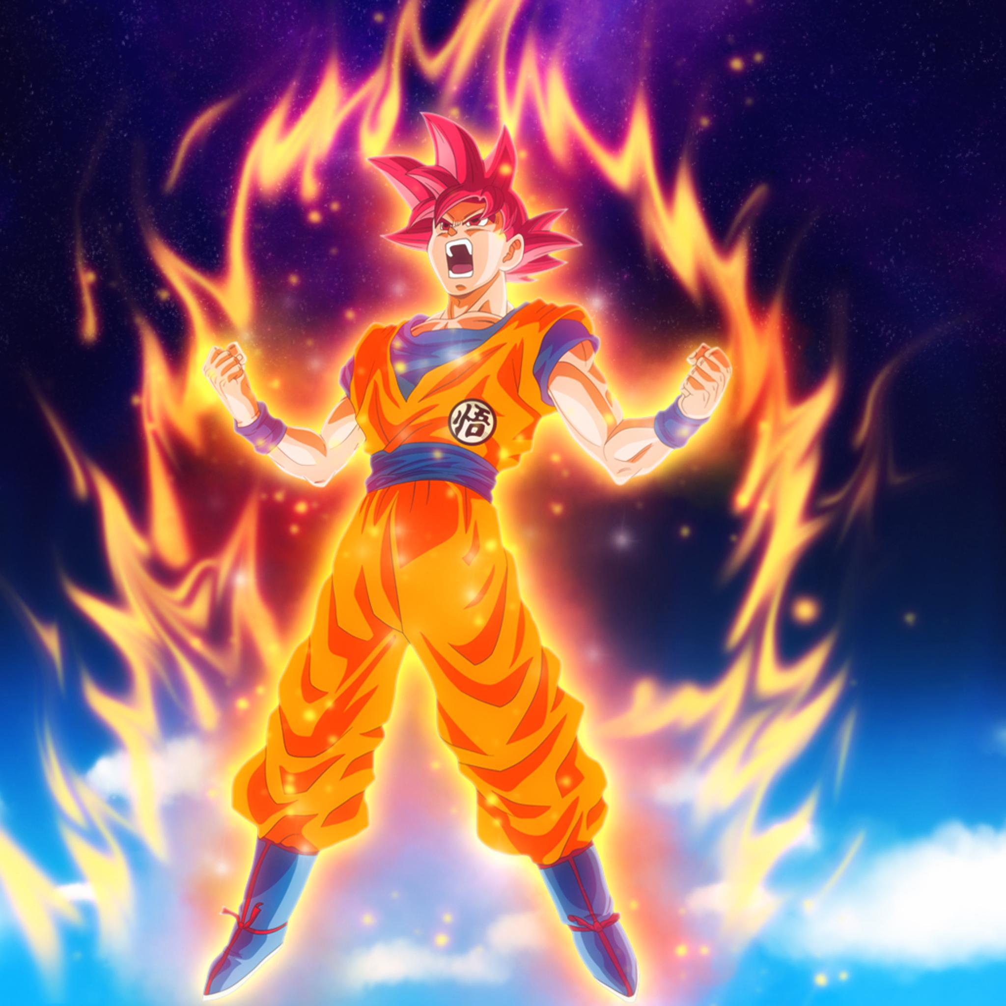 2048x2048 Goku Dragon Ball Super Anime HD Ipad Air HD 4k Wallpapers, Images, Backgrounds, Photos ...