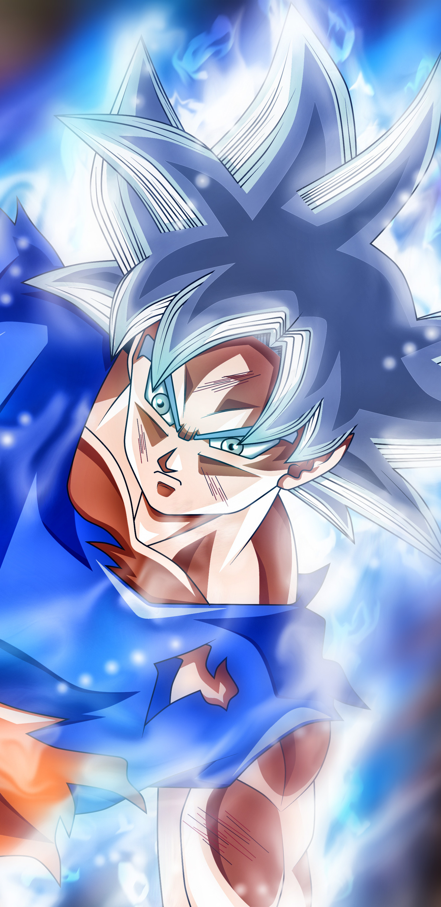 1440x2960 goku jiren masterd ultra instinct samsung galaxy - Goku ultra instinct mastered wallpaper ...