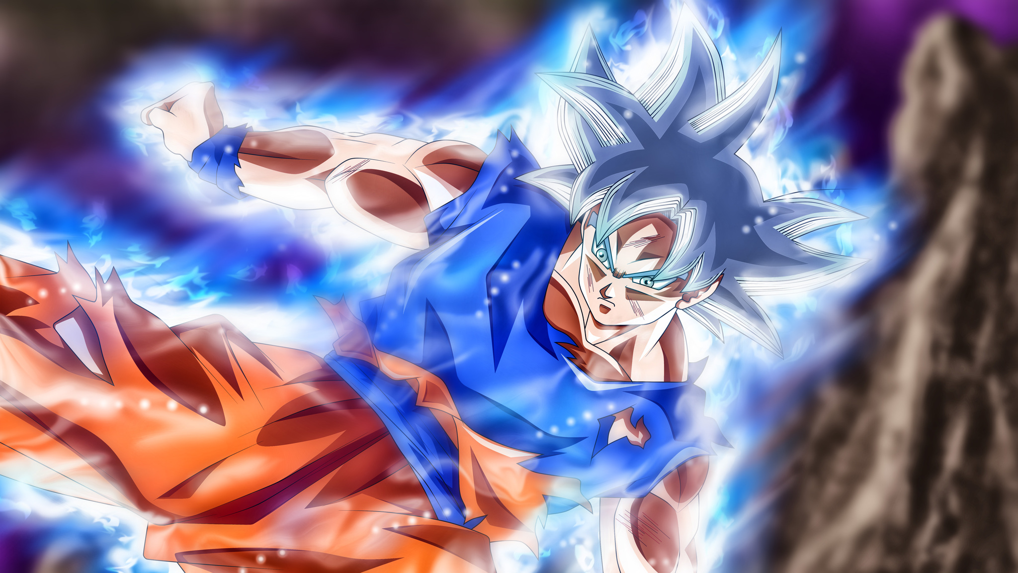 Goku Ultra Instinct Wallpaper Hd: 2048x1152 Goku Jiren Masterd Ultra Instinct 2048x1152