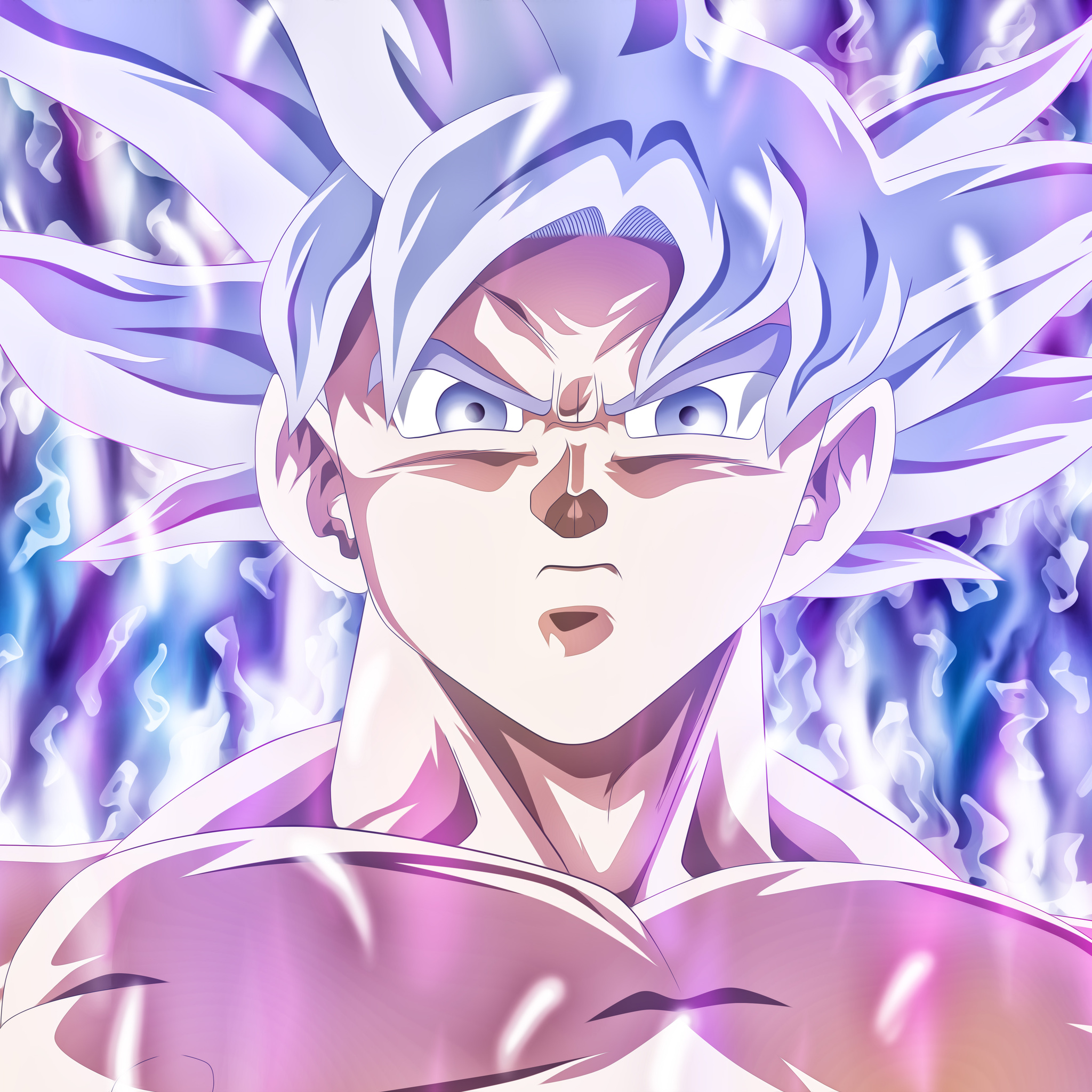 2048x2048 Goku Mastered Ultra Instinct Ipad Air Hd 4k Wallpapers