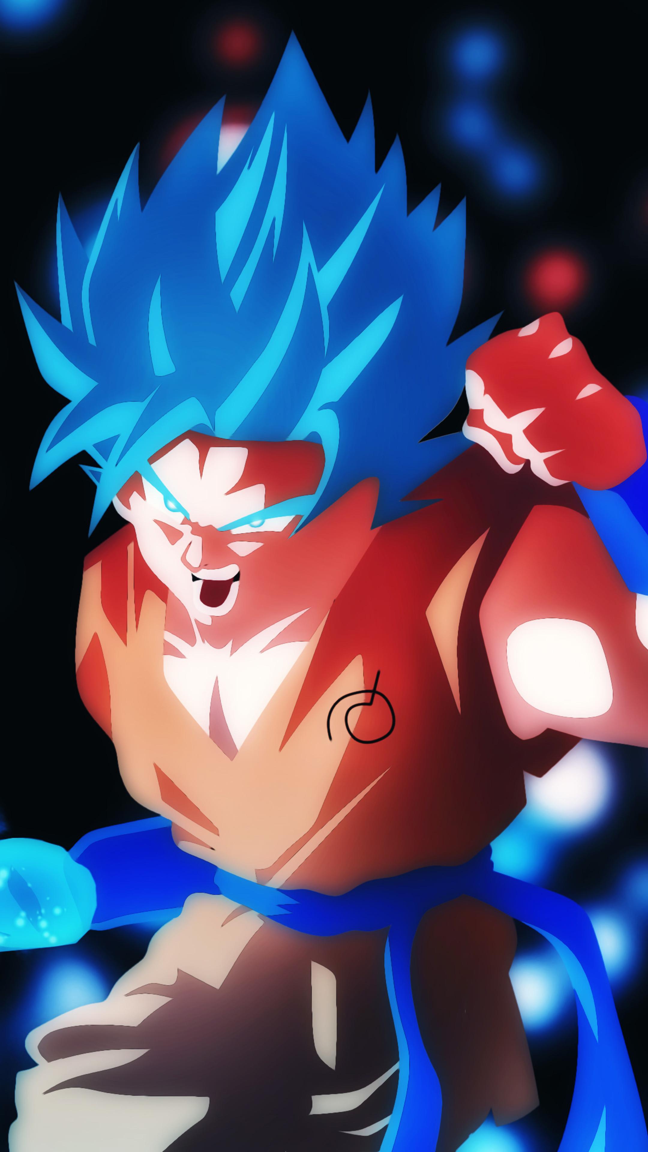 2160x3840 Goku SSB Ki Blade Sony Xperia X,XZ,Z5 Premium HD