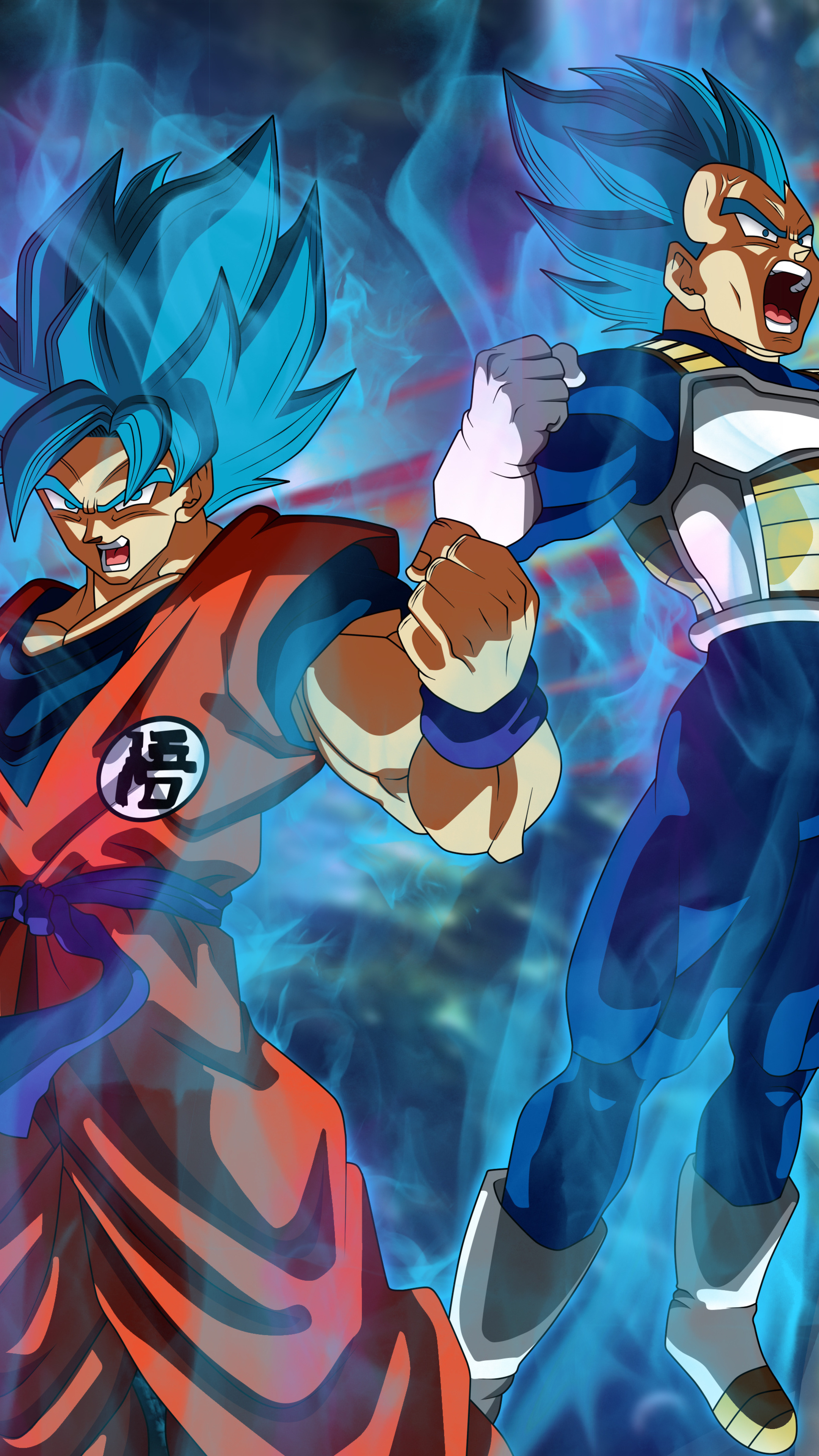 2160x3840 Goku Vegeta Dragon Ball Super 5k Sony Xperia X