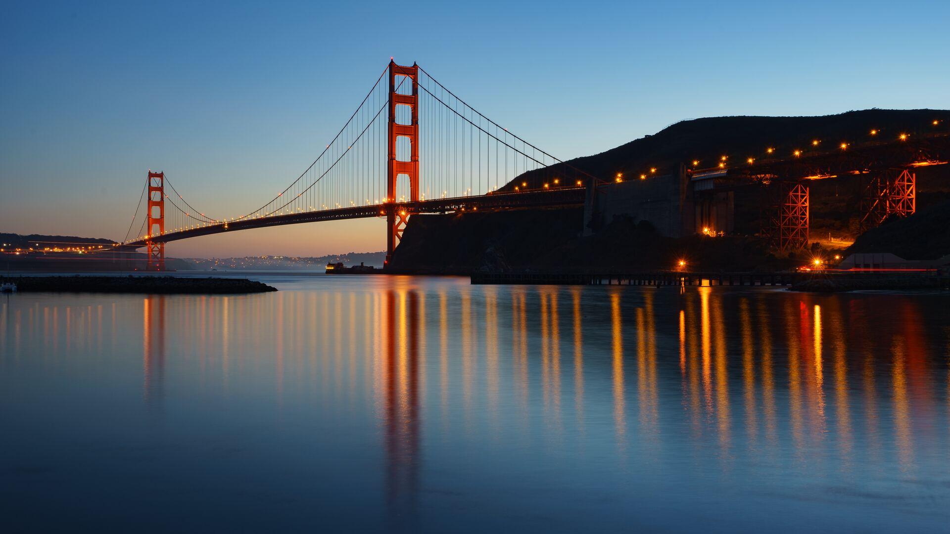 1920x1080 Golden Gate Bridge Evening 5k Laptop Full Hd 1080p Hd 4k