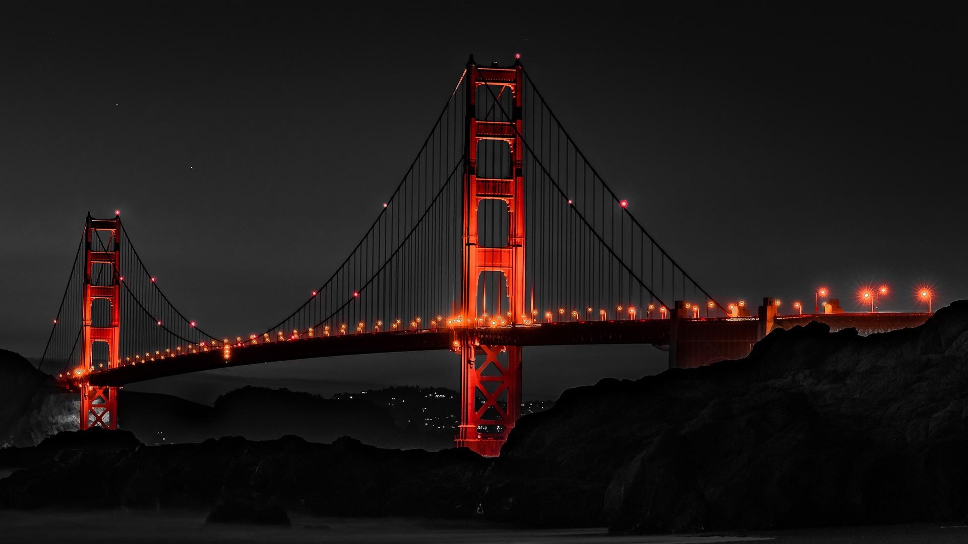 1920x1080 Golden Gate Bridge San Francisco Night Laptop