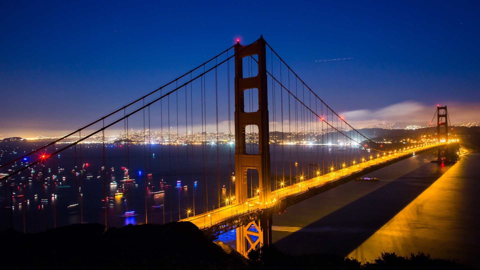 1920x1080 Golden Gate Nights World 5k Laptop Full Hd 1080p Hd 4k