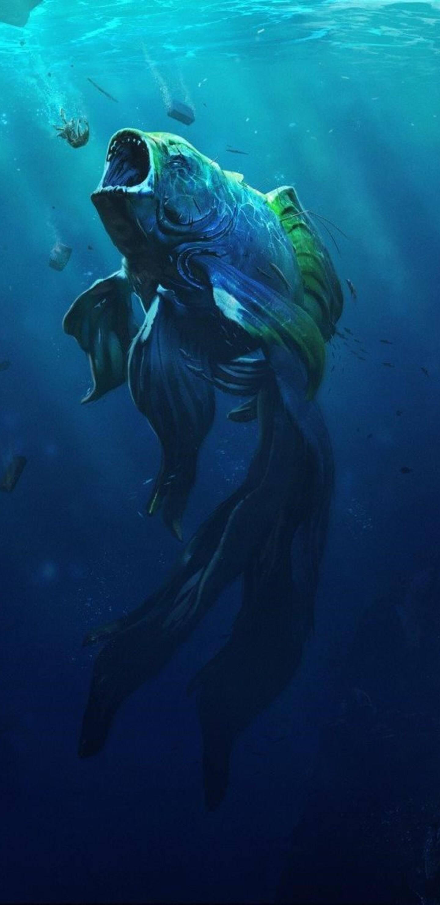 1440x2960 goldfish piranha samsung galaxy note 9,8, s9,s8,s8+ qhd hd