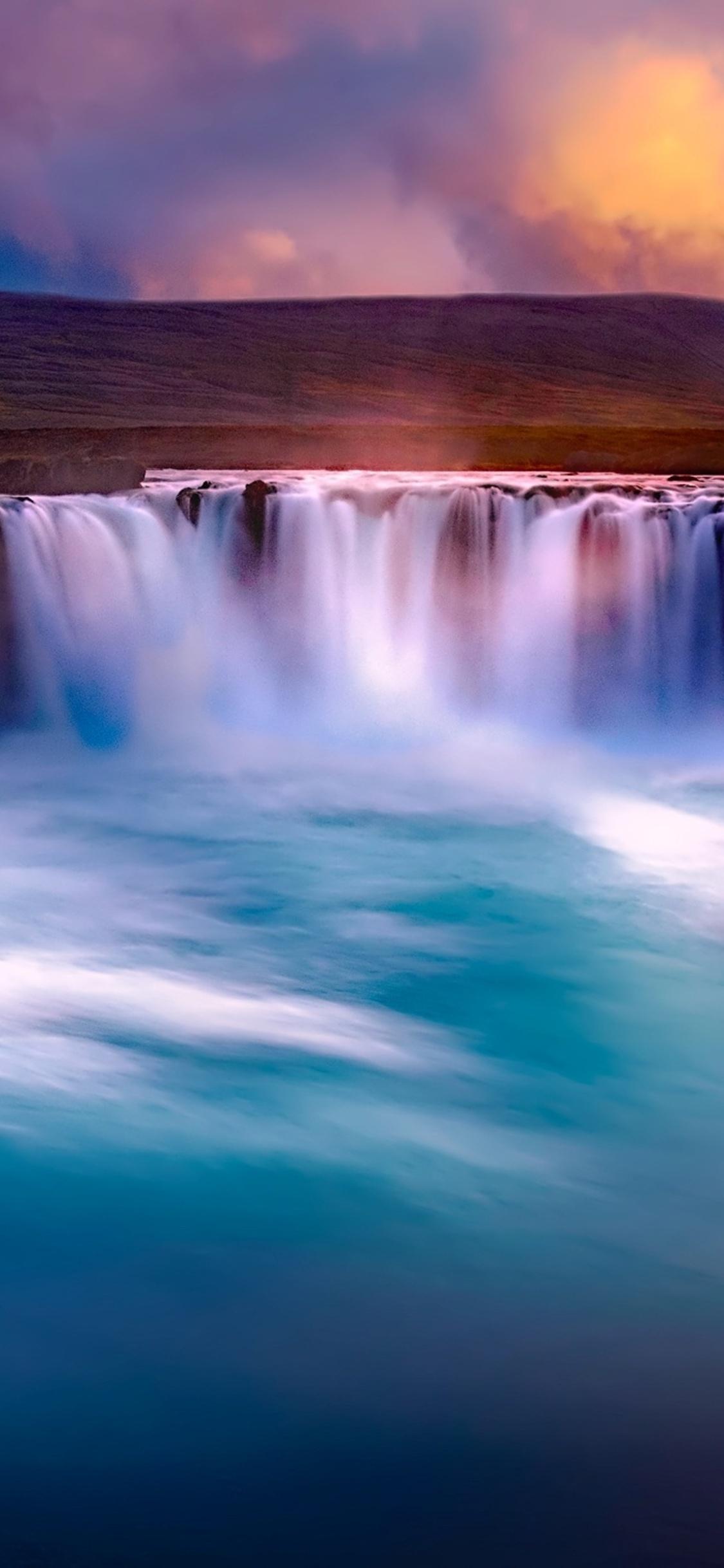 1125x2436 Gooafoss Iceland Waterfall Iphone Xs Iphone 10 Iphone X Hd