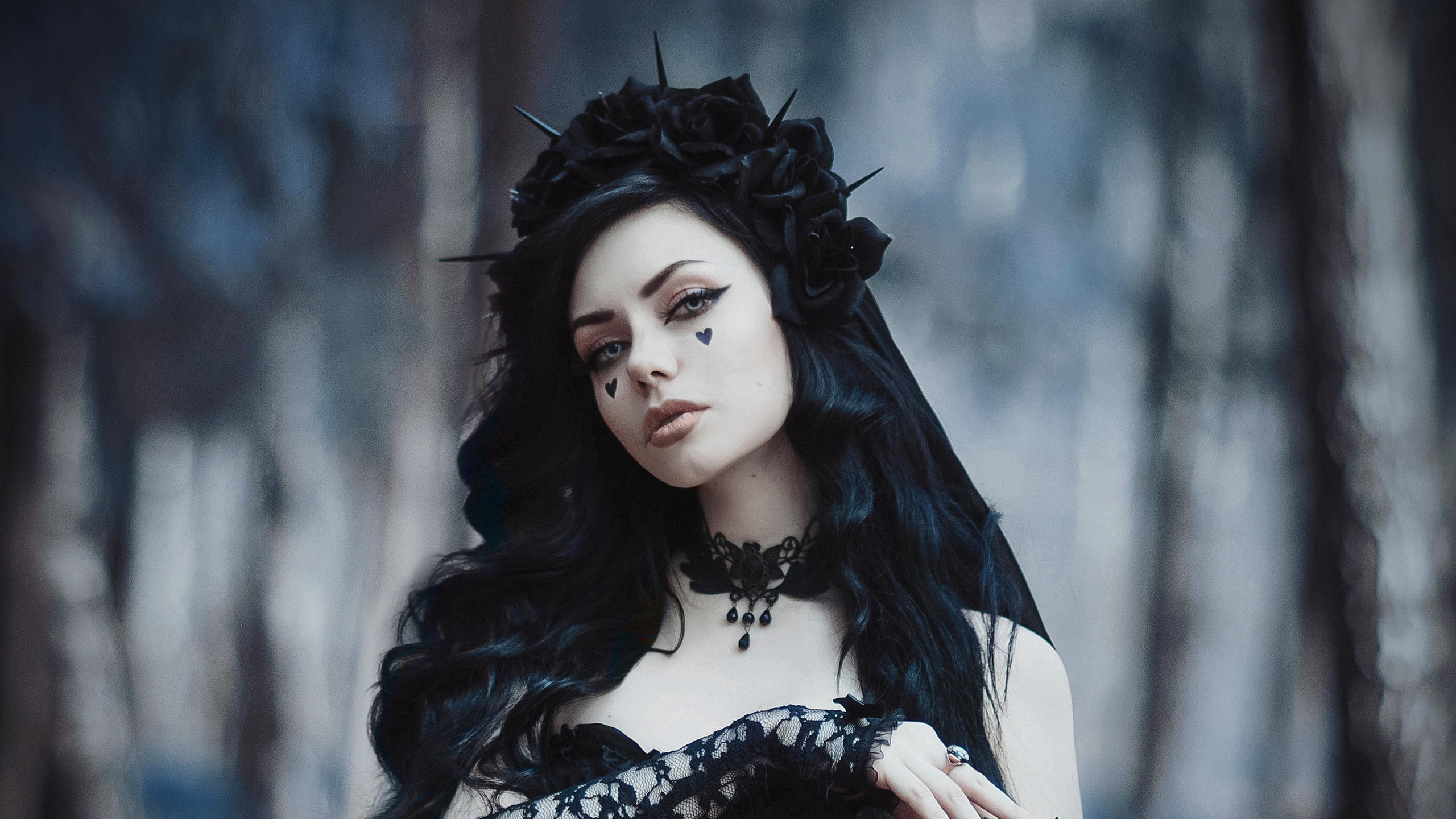 2560x1440 Gothic Bride In Black Dress 1440p Resolution Hd 4k Wallpapers Images Backgrounds Photos And Pictures