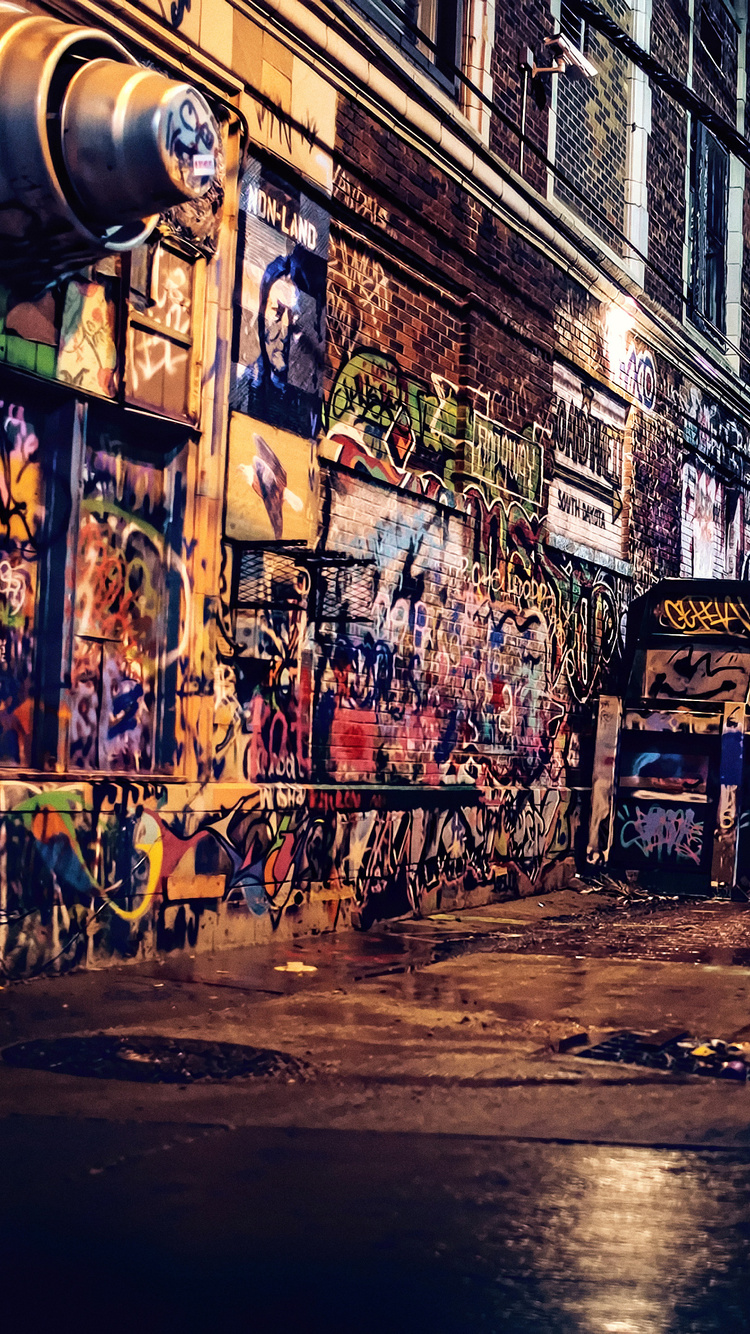 750x1334 Graffiti Wall Night 4k Iphone 6 Iphone 6s Iphone