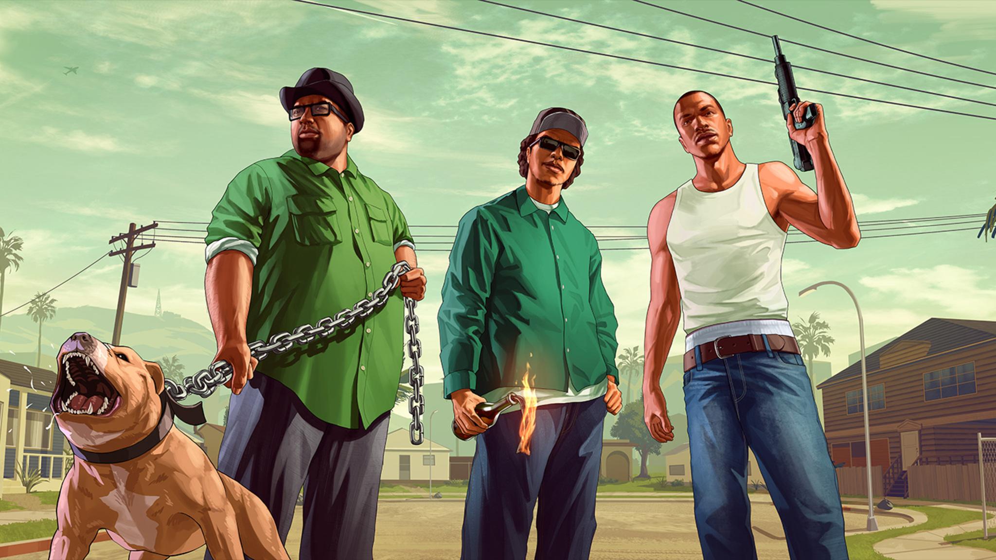 2048x1152 Grand Theft Auto San Andreas Fanart 2048x1152