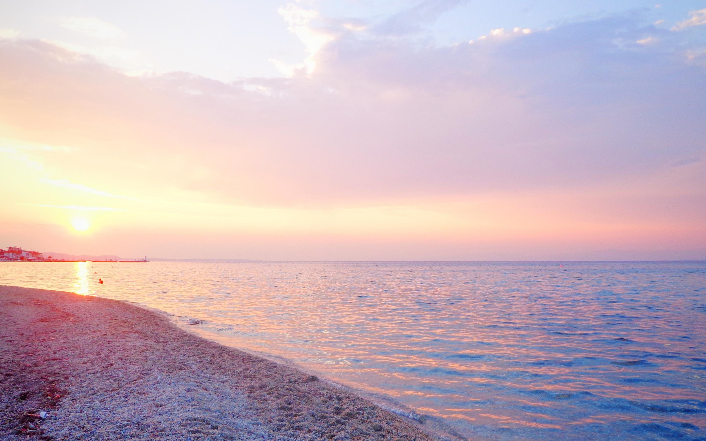 2880x1800 Greece Sea Beach Sunset Macbook Pro Retina Hd 4k