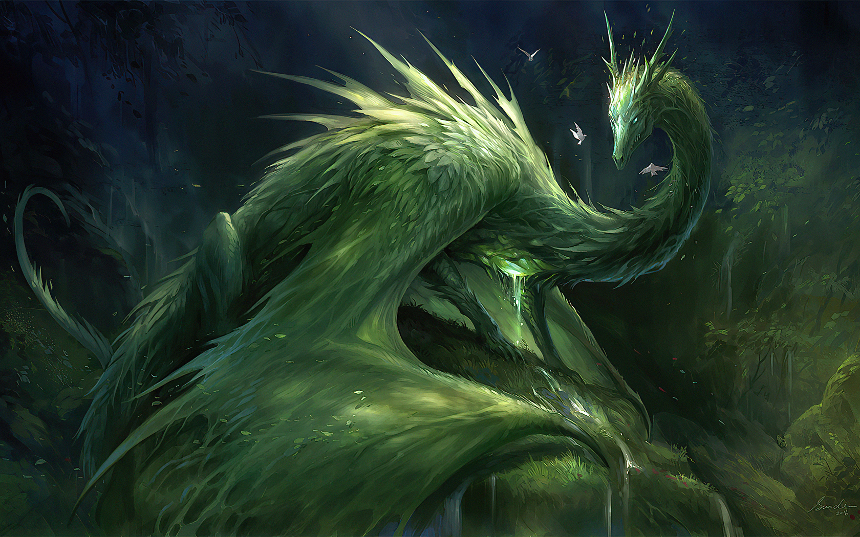 1680x1050 Green Crystal Dragon 4k 1680x1050 Resolution Hd 4k Wallpapers Images Backgrounds Photos And Pictures