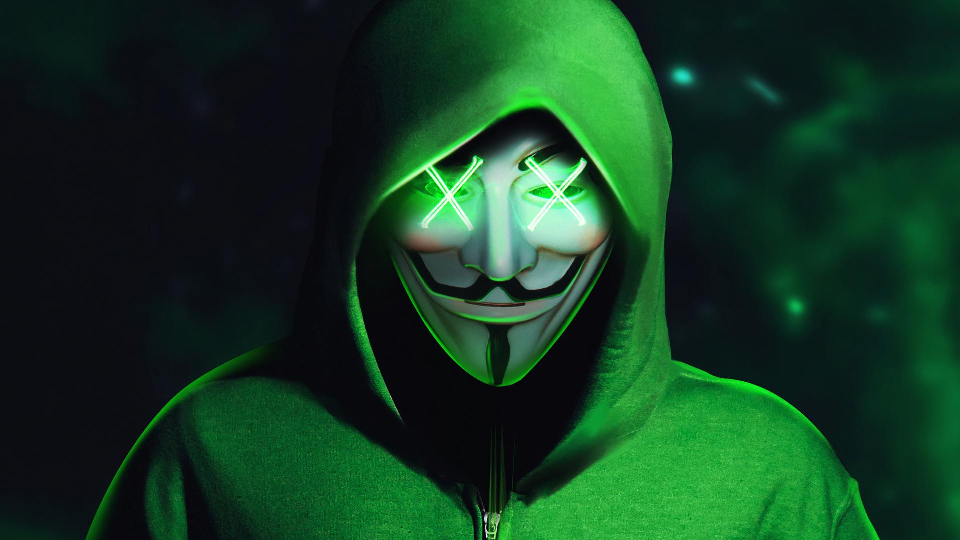 4k mask wallpapers hoodie anonymus joker backgrounds wallpaperaccess 2160 1080p desktop laptop resolution anonimo capa verde parede papel q8 1933