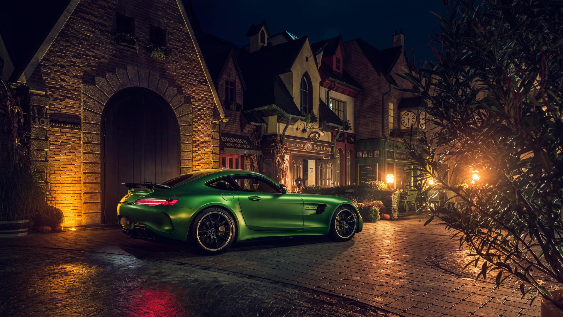 1920x1080 Green Mercedes AMG GT R Rear 4k Laptop Full HD ...