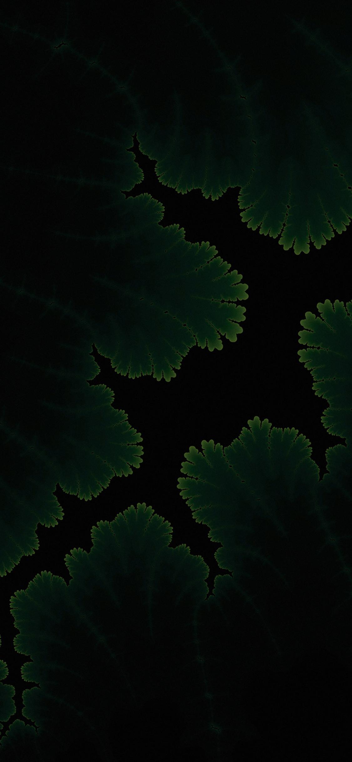 1125x2436 Green Plants Dark Amoled Iphone Xs Iphone 10