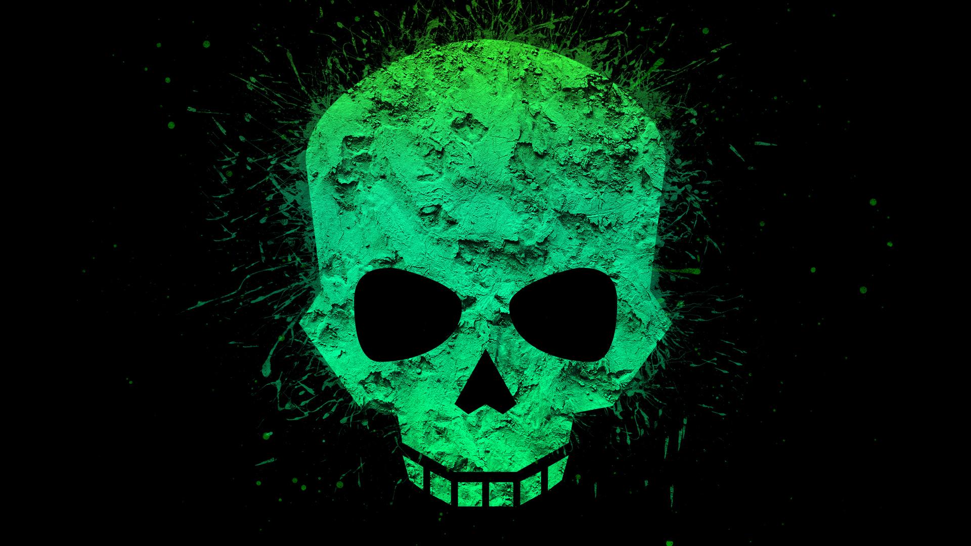 1920x1080 Green Skull 4k Laptop Full HD 1080P HD 4k ...