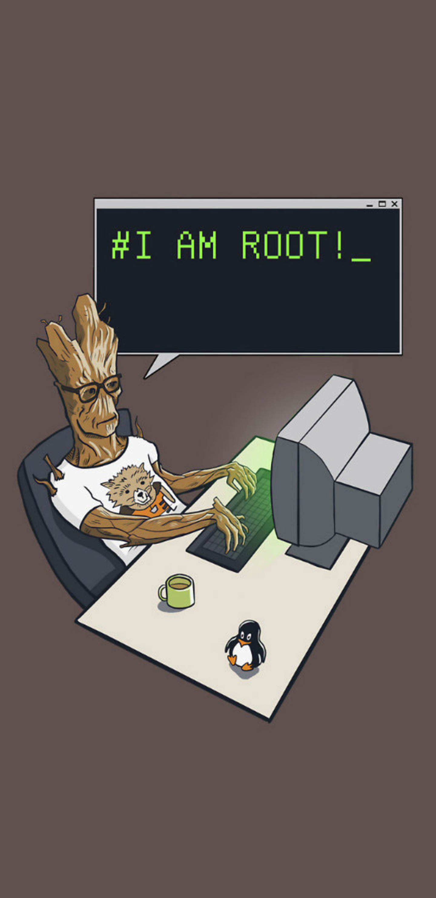 1440x2960 Groot I Am Root Samsung Galaxy Note 9,8, S9,S8,S8+