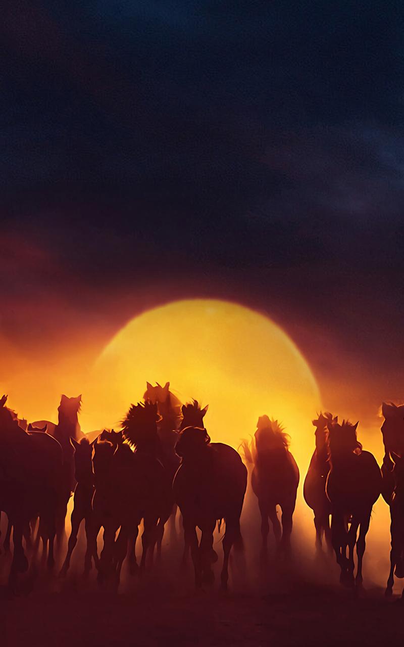 800x1280 Group Of Horses Running Nexus 7 Samsung Galaxy Tab 10