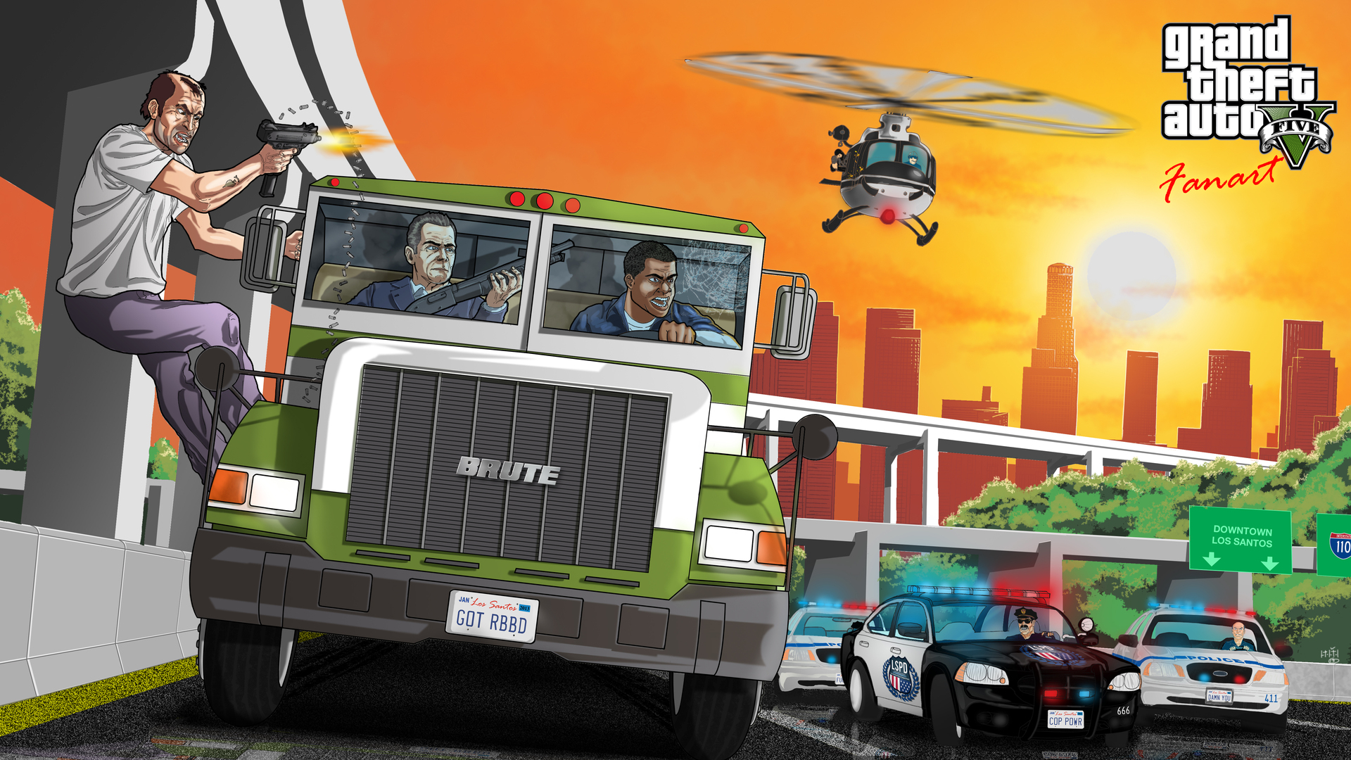 1920x1080 Gta 5 Fanart Laptop Full Hd 1080p Hd 4k Wallpapers