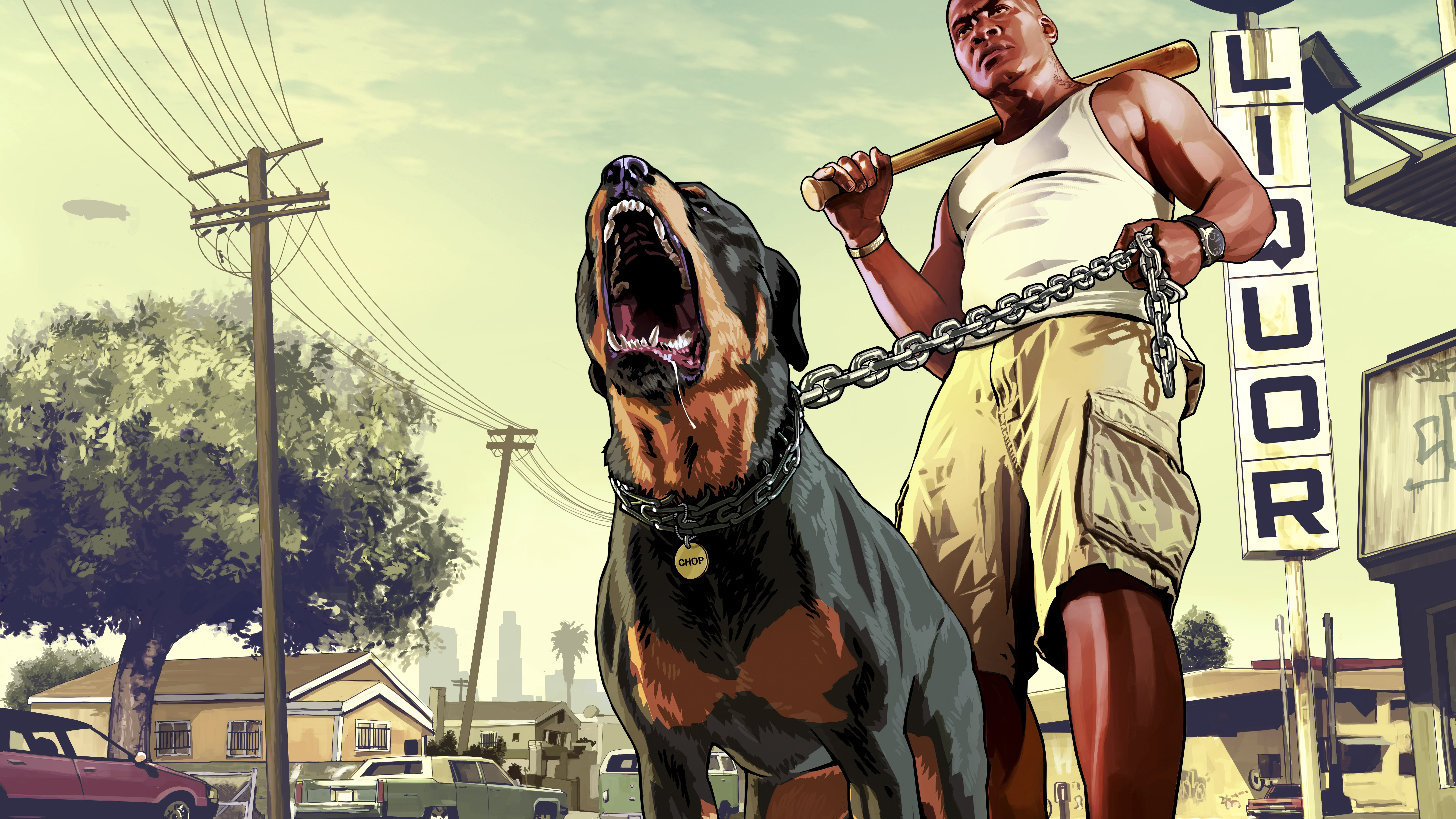 7680x4320 Gta 5 Franklin With Chop Rottweiler 8k 8k Hd 4k Wallpapers Images Backgrounds Photos And Pictures