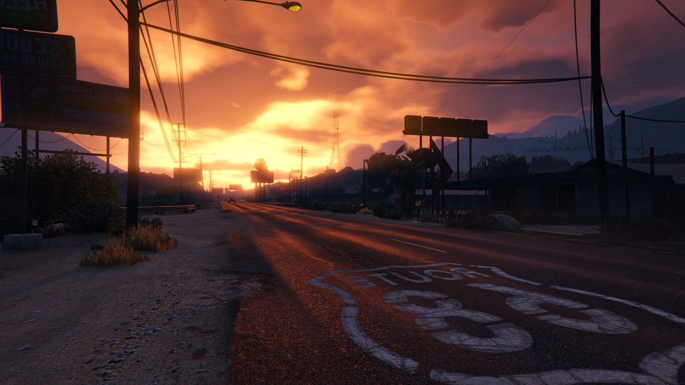 1366x768 gta 5 sunset 1366x768 resolution hd 4k wallpapers